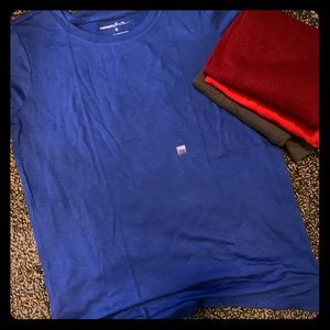 EUC EXPRESS T SHIRTS XS BLUE RED MAROON GRAY